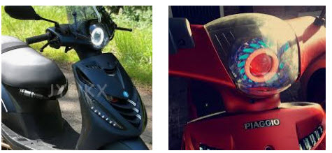 Angel-eye-Piaggio-zip-LED-samenstellen